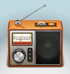 retro radio icon vector image