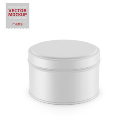 round matte tin round box template vector image