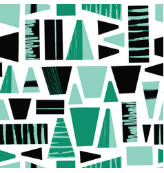 seamless background abstract black teal vector image