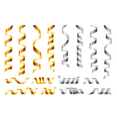 Serpentine icon set realistic style vector
