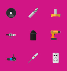 Set of 9 editable instruments icons includes vector
