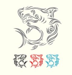 shark ornamental vector image