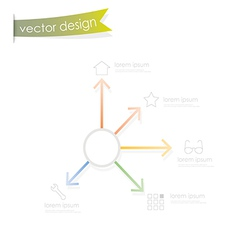 Simple process step vector image