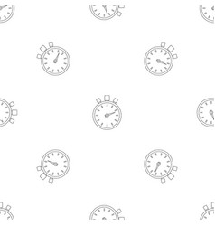 stop stopwatch pattern seamless vector image