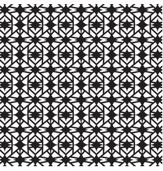 Stylish black and white geometric graphic pattern vector