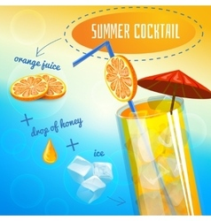 Summer Cocktail Recipe vector