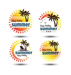 Summer label 2 vector