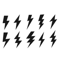 Thunder and lighting icons set set vector