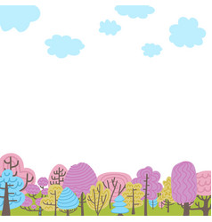 trees elements natural forest landscapes flat vector image