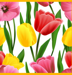 Tulip pattern seamless vector