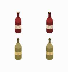 Wine bottle icon in on white background vector