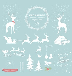 Winter Holidays designers toolkit vector image