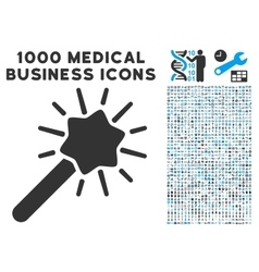 Wizard Tool Icon with 1000 Medical Business vector