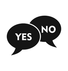 yes no bubbles icon simple style vector image