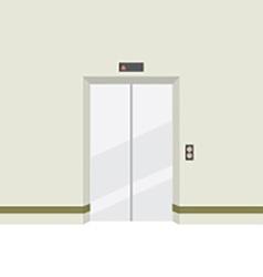 Closed Doors Elevator vector image vector image