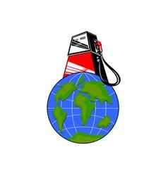 Fuel Pump on Globe vector image vector image