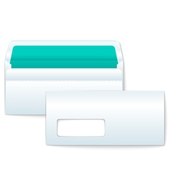 Opened and Closed Blank Envelopes vector image