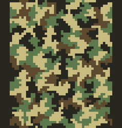 Seamless digital camouflage pattern vector