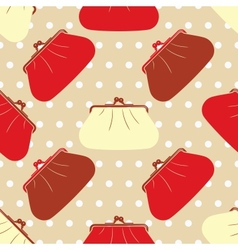 Seamless texture with fashion cosmetic bags vector image