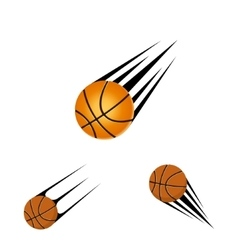 basketball logo on a white background vector image