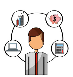 businessman people office vector image