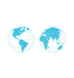 earth semisphere template isolated on white vector image