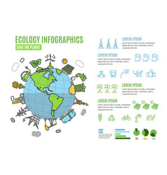 ecology infographics banner menu card vector image vector image