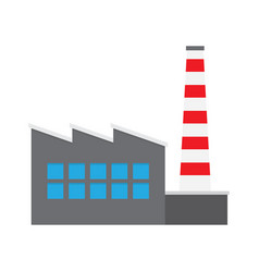 Factory producing oil and gas building icon vector