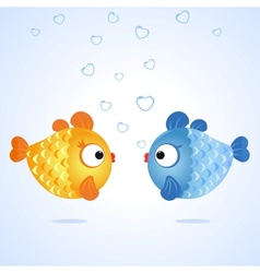 fish two vector image