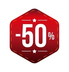 Sale ten percent off banner red patch vector image