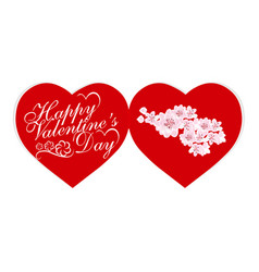 valentine s day valentines a card for a holiday vector image vector image