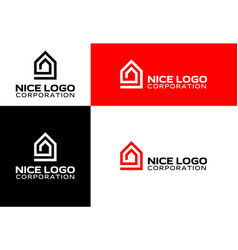 logo house and real estate vector image