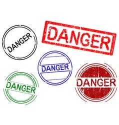 office stamps danger vector image