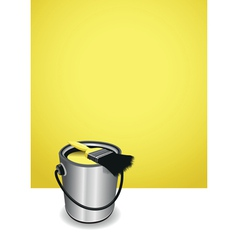 yellow paint pot background vector image