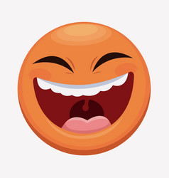 april fools day emoticon laughing vector image