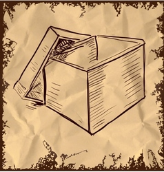 Box isolated on vintage background vector image vector image