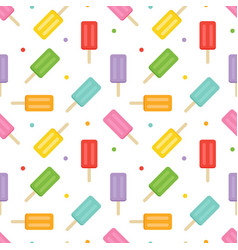 colorful ice cream and dots seamless pattern vector image vector image