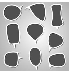 Gray Color Calligraphic Speech Bubbles vector image vector image