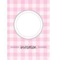 Pink vintage card menu or invitation vector image vector image