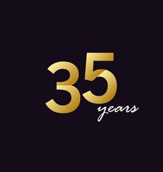 35 years anniversary celebration gradient vector