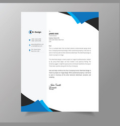 Abstract corporate professional letterhead design vector