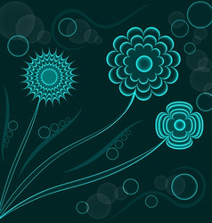 Abstract fantasy floral background blue flowers vector image
