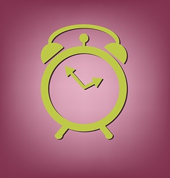 Alarm icon The clock shows the time vector image
