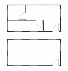architecture floor vector image