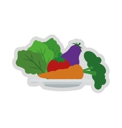 Assorted vegetables icon vector