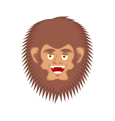 Bigfoot happy face yeti cheerful emoji abominable vector