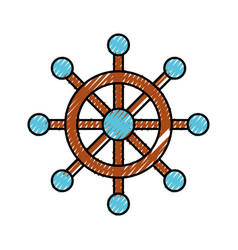 Boat timon isolated icon vector