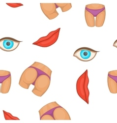 Body parts pattern cartoon style vector