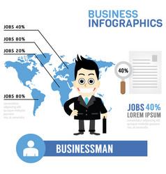 Businessman info graphics vector