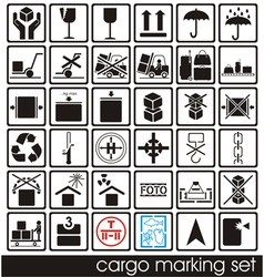 Cargo marking icons vector